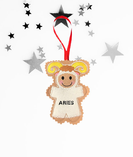 Aries Starsign Gingerbread Decoration