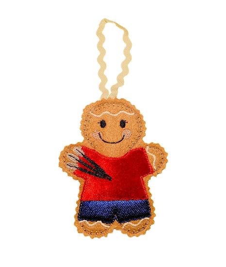 Darts Player Gingerbread Decoration