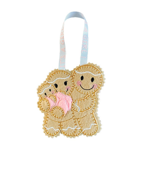 New Baby Girl Gingerbread Decoration
