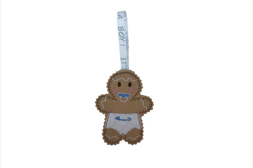 Baby Boy Gingerbread Decoration