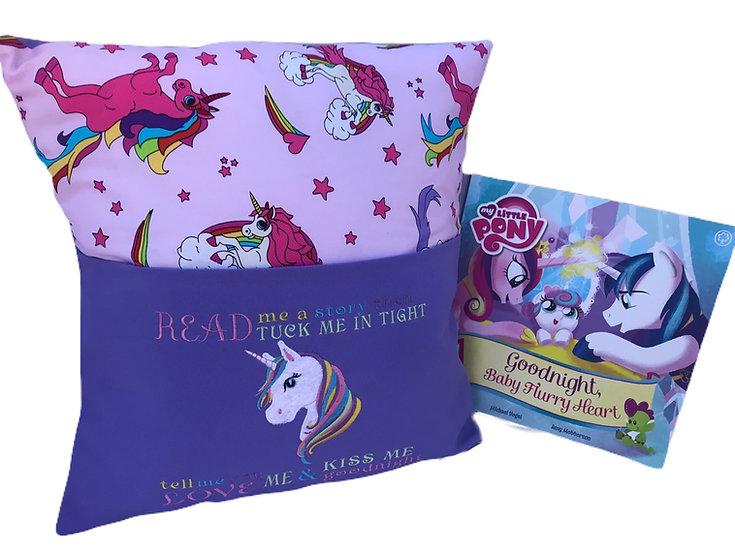 Unicorn Themed Book Cushion