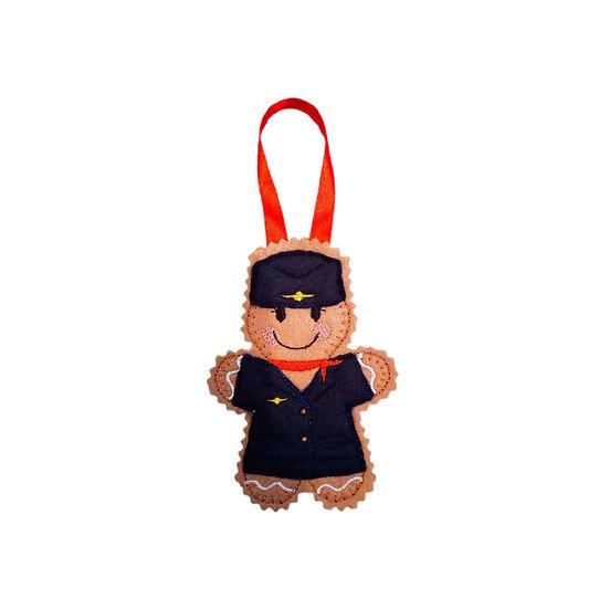 Air Hostess Gingerbread Decoration