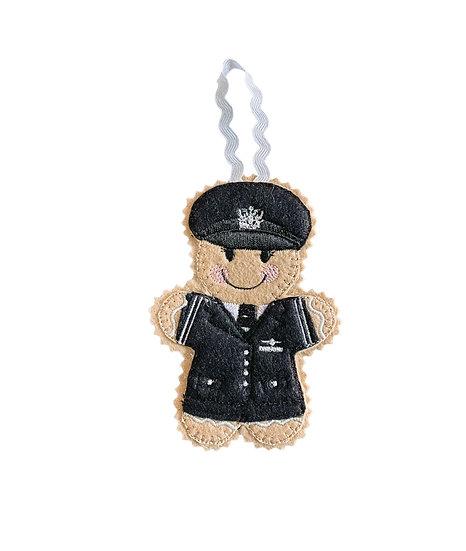 Female Pilot Gingerbread Decoration