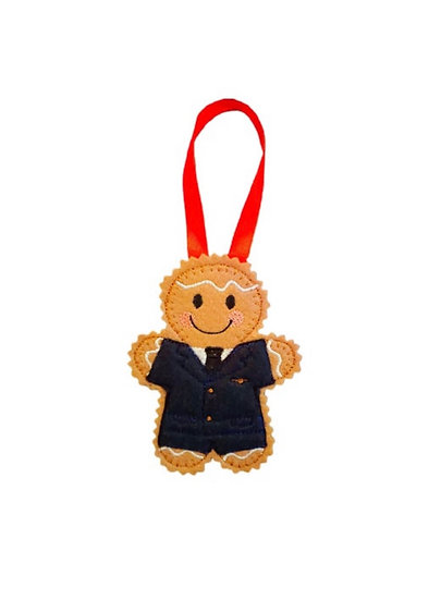 Air Steward Gingerbread Decoration