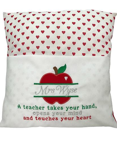 Teachers Thank You Gift - Reading Book Cushion