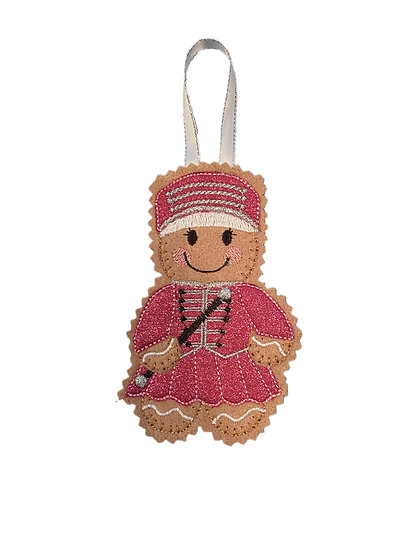 Majorette Gingerbread Decoration