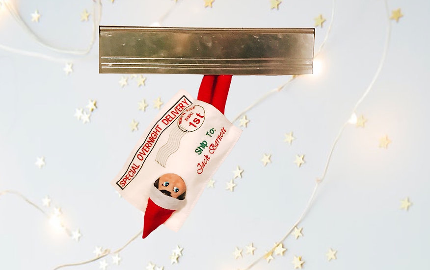 Elf delivery Envelope, personalised elf on the shelf accessory