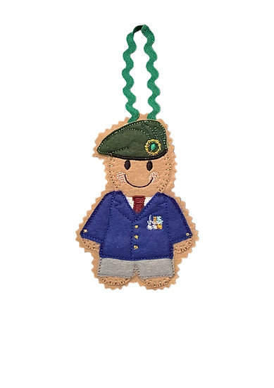 Army Veteran Gingerbread Decoration