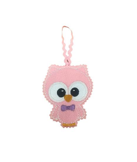 Pink Felt Owl Decoration