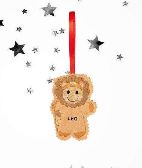 Leo Starsign Gingerbread Decoration