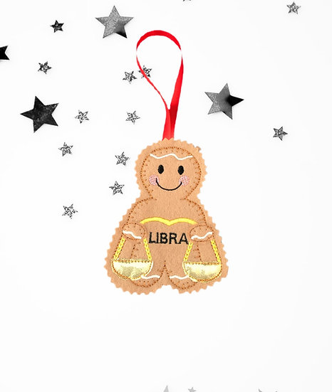 Libra Starsign Gingerbread Decoration