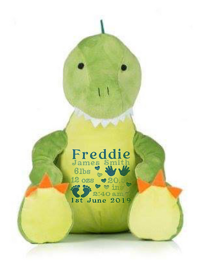 T-Rex Dinosaur Personalised Soft Toy