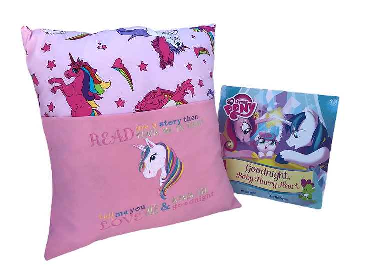 Unicorn Themed Book Cushion