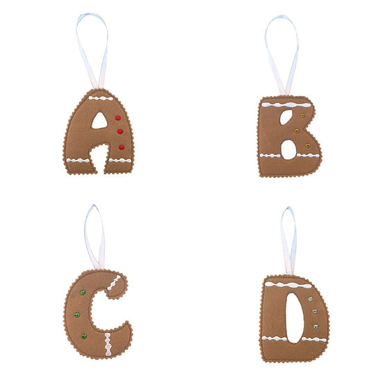 Initial Gingerbread Hanging Decoration