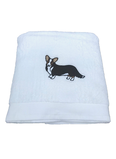 Corgi Bath Towel, personalised corgi gift, dog towel