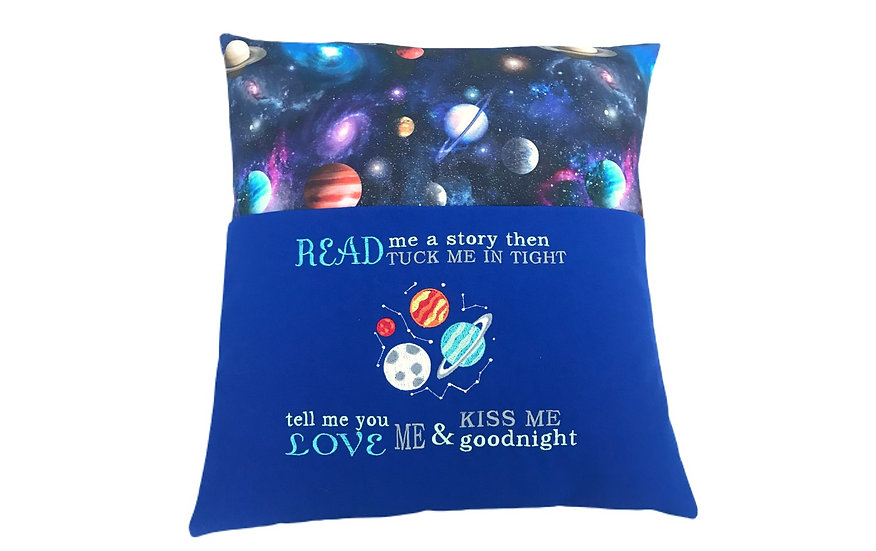 Space Rocket Themed Reading Book Cushion
