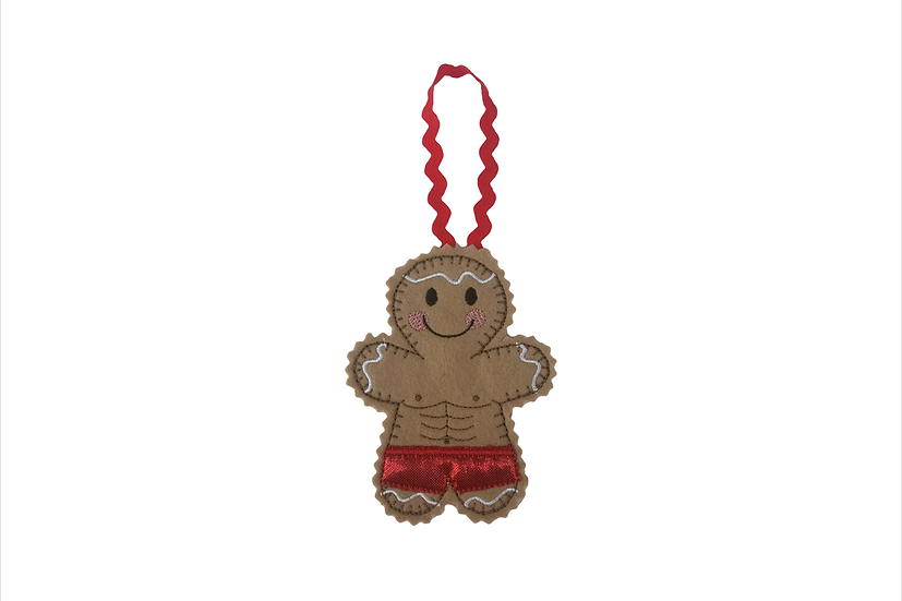 Body Builder Gingerbread Decoration