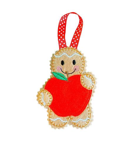Teachers Apple Ginger Decoration Gift
