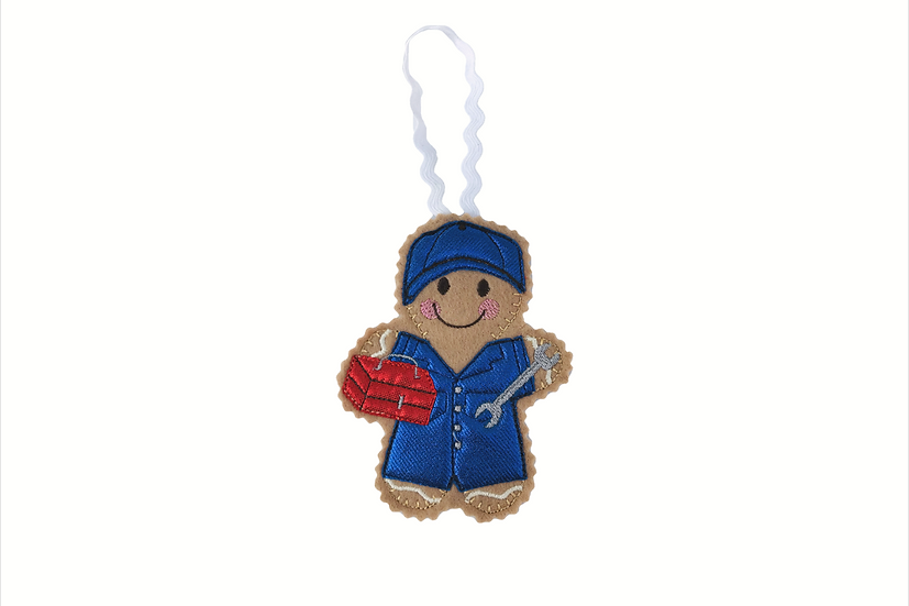 Mechanic Gingerbread Decoration