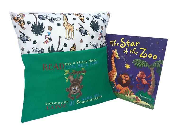 Monkey Zoo Themed Book Cushion