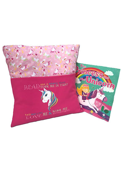 Rainbow Unicorn Themed Reading Book Cushion