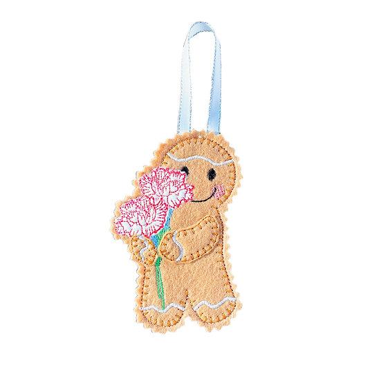 Carnation Flower January Birth Gingerbread Decoration