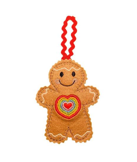 Rainbow Heart Gingerbread Decoration