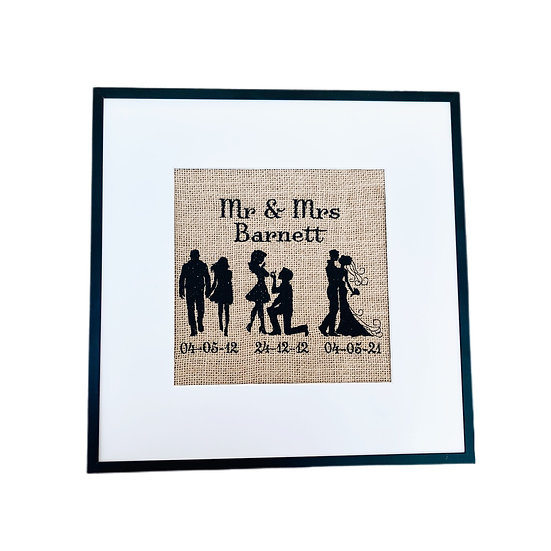 Personalised Couple Frame - Wedding / Anniversary Gift