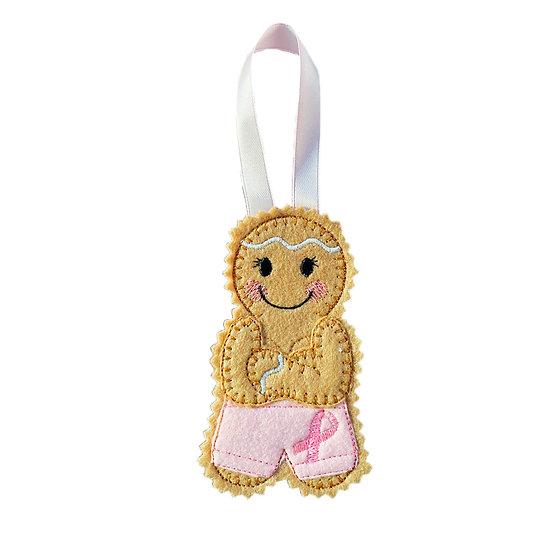 Breast Cancer Awareness / Survivor Gingerbread Decoration