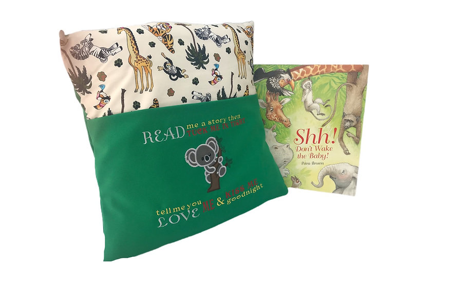 Koala zoo/safari themed book cushion
