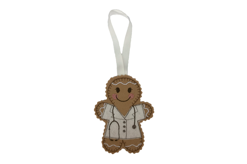 Female Doctor Gingerbread Decoration