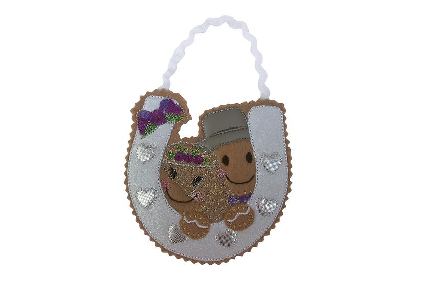 Wedding Horseshoe Gingerbread Decoration / wedding Anniversary Gift