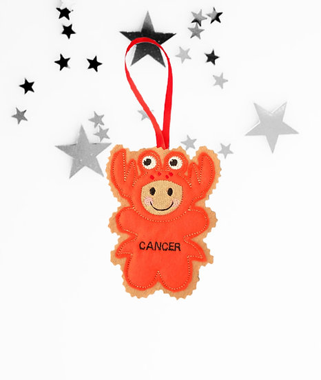 Cancer Starsign Gingerbread Decoration