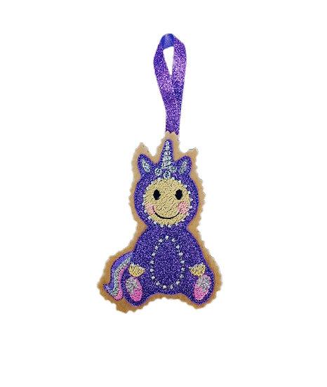 Purple Unicorn Gingerbread Decoration