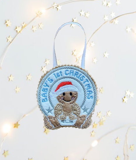 Baby's 1st Christmas Blue Gingerbread Decoration