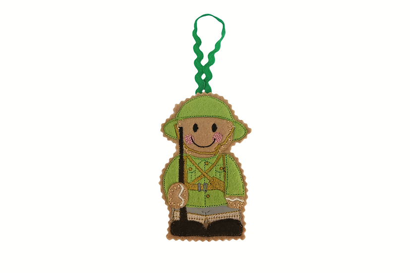 WW1 Tommy Soldier Gingerbread Decoration