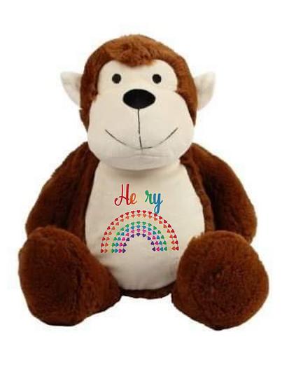 Monkey Personalised Soft Toy