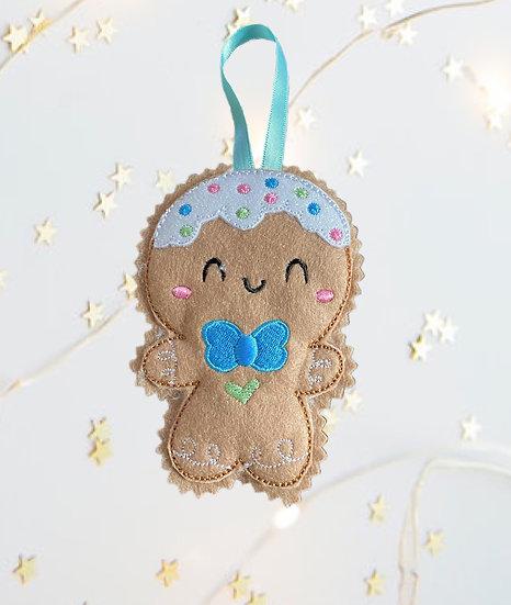 Christmas Kawaii Gingerbread Boy Decoration