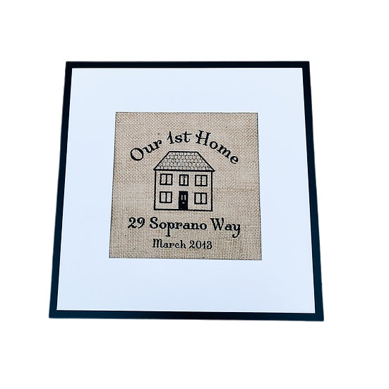 Personalised  Our Home - New Home Gift