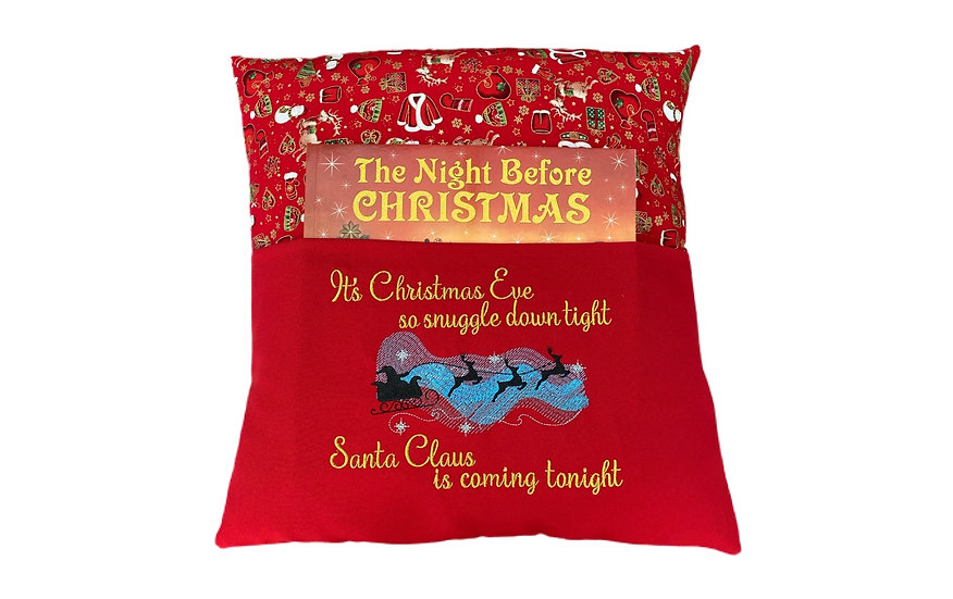 Santa Claus Christmas Book Cushion