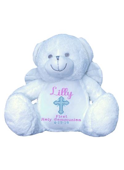 Angel Bear Personalised Christening / Baptism Soft Toy