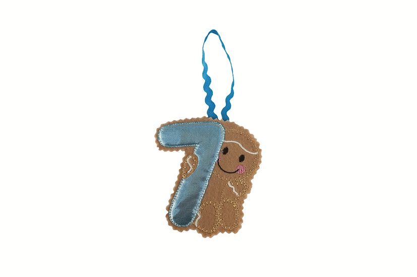 Age 7 / Number 7 Gingerbread Decoration