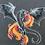 Thumbnail: Dragon Cotton Canvas Messenger Bag