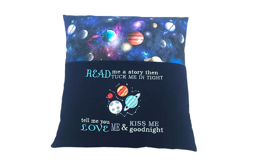 Space Themed Reading Book Cushion