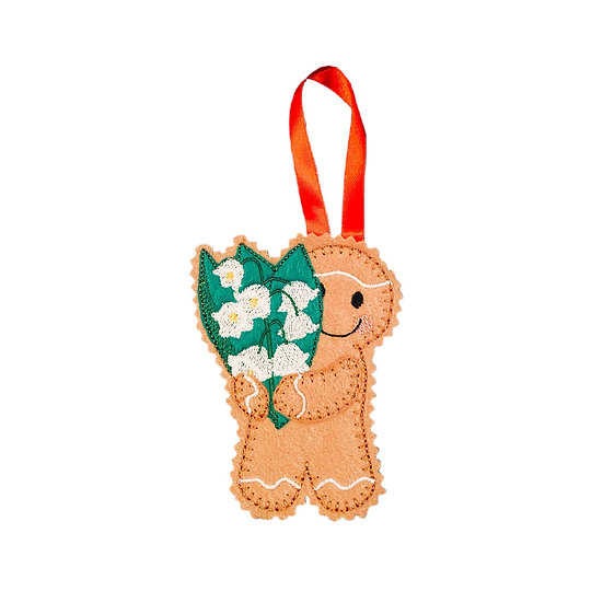 Lily of the Valley May Birth Flower Ginger Decoration