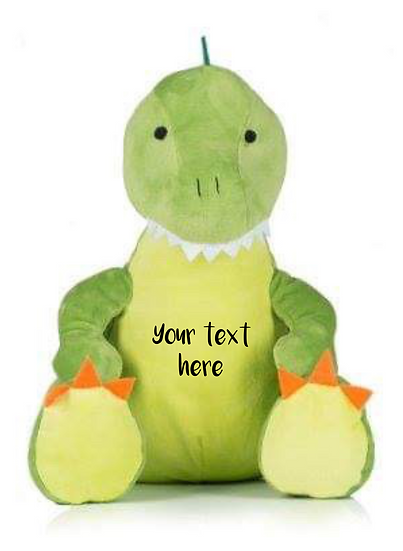 T-Rex Dinosaur Personalised Christening / Baptism Soft Toy