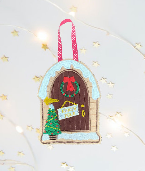 Christmas Gingerbread Elf Door Decoration