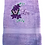Thumbnail: Personalized Towels, Personalised gift, Gift for her, Gift for mum, Purple towel