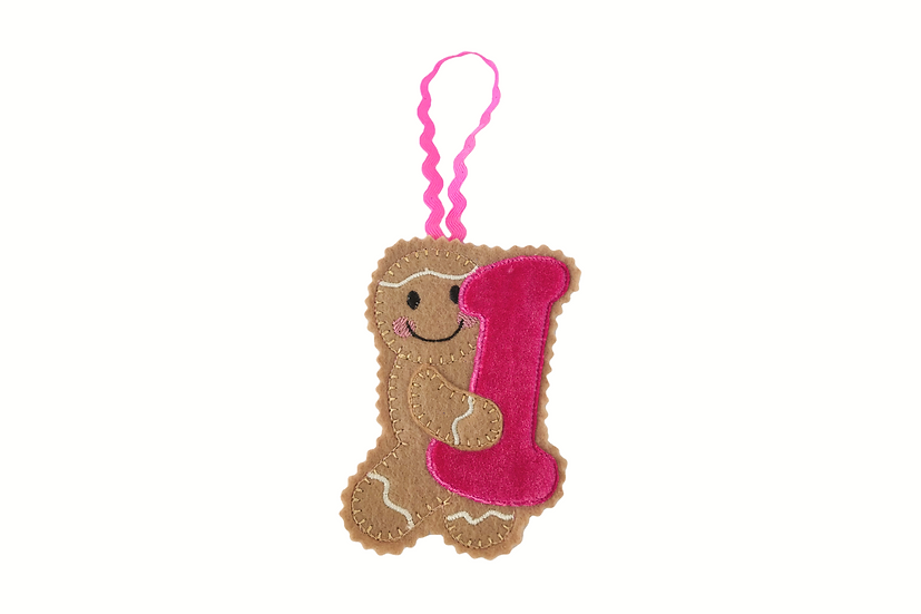 Number 1 / 1st Birthday Gingerbread Decoration