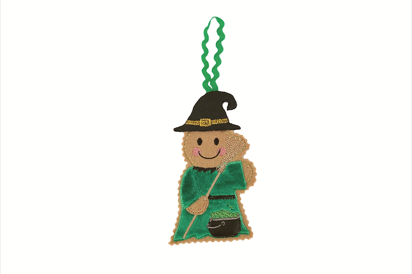 Witch Gingerbread Decoration